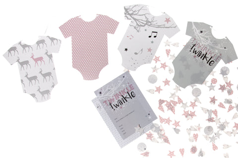 Twinkle Twinkle baby girl party pack by Little Dot Baby Shower