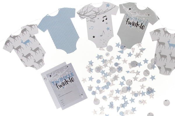 Twinkle Twinkle baby boy party pack by Little Dot Baby Shower