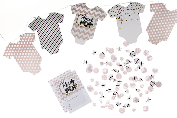Ready to Pop baby shower party pack by Little Dot Baby Shower