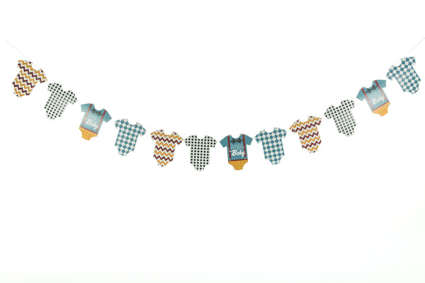 baby grow bunting - Fantastic Mr Baby by Little Dot Baby Shower