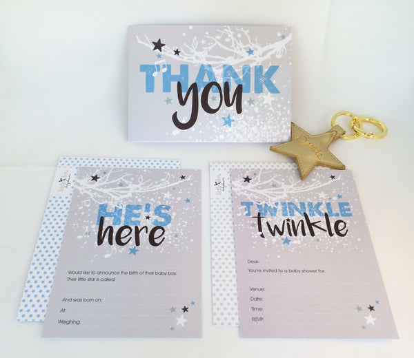 Twinkle Twinkle baby shower card pack by Little Dot Company