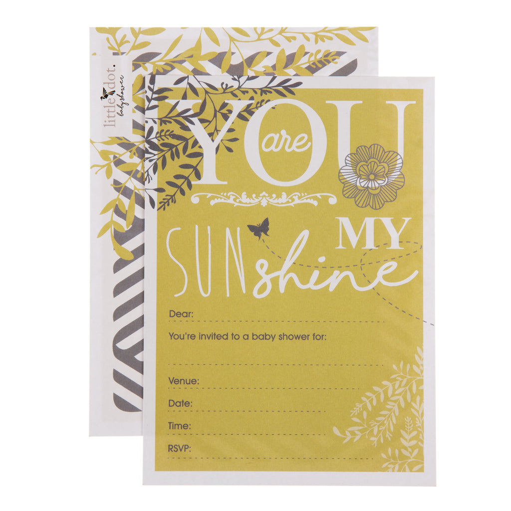 You Are My Sunshine Baby Shower Invitations By Little Dot