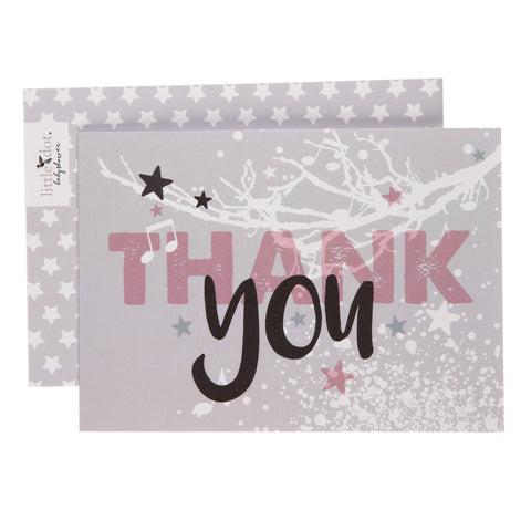 Twinkle twinkle baby girl thank you cards