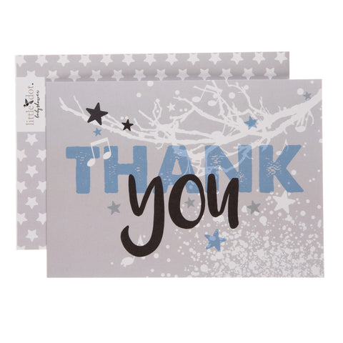 Twinkle Twinkle baby boy thank you cards by Little Dot