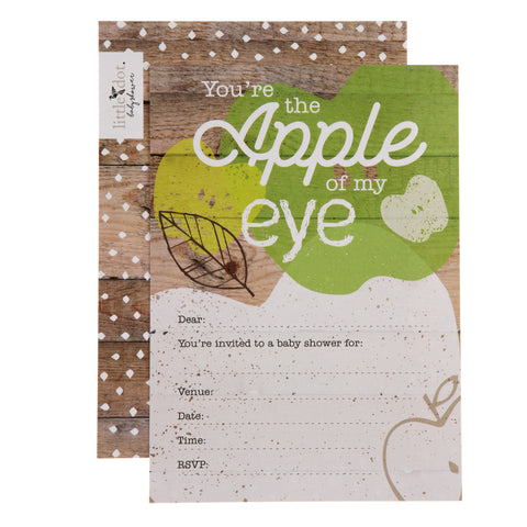 You're the Apple of my Eye baby shower invitations by Little Dot