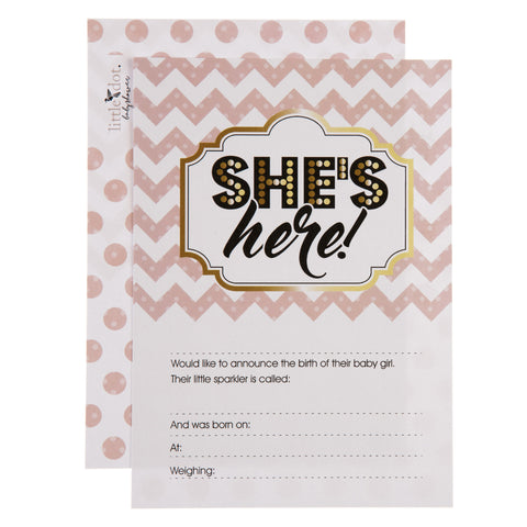 birth announcement cards - She's here Ready to Pop theme