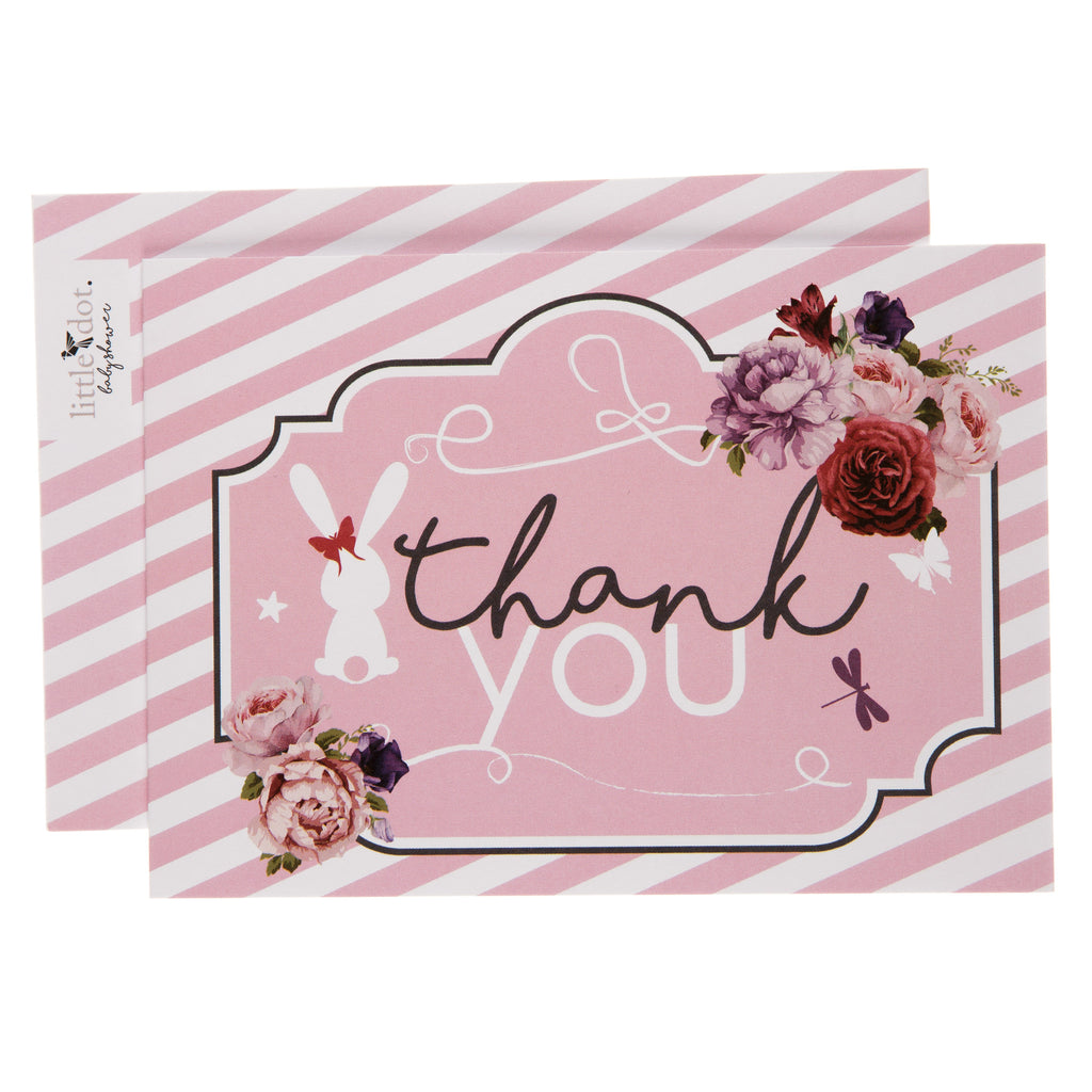 Little Lady thank you card by Little Dot Baby Shower