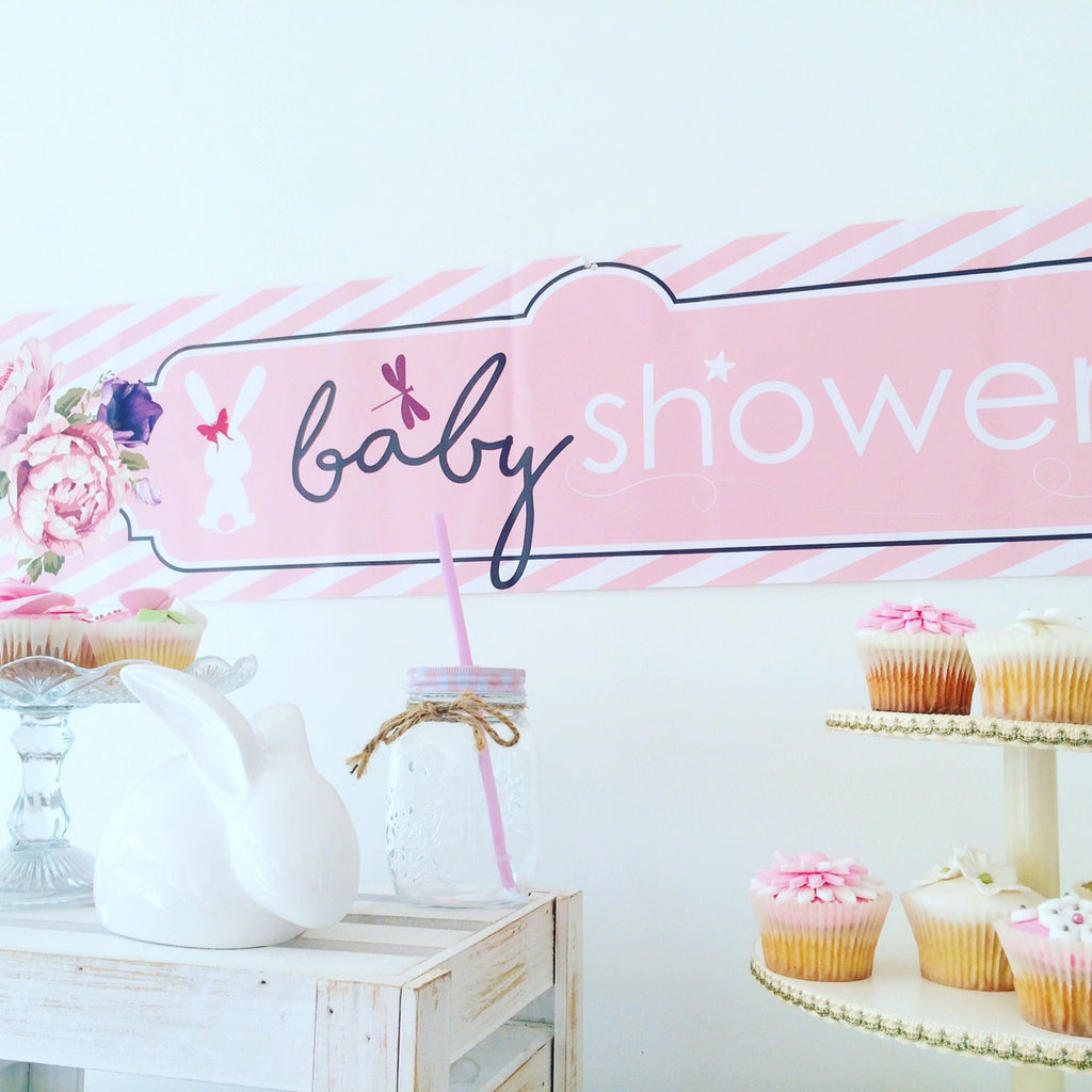 Little Lady Large Baby Shower Banner Little Dot Company