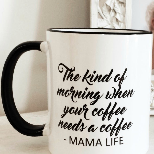 MAMA LIFE coffee mug by Little Dot Baby Shower