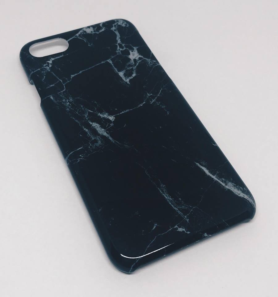 Símahulstur Marble Black Iphone 6 6s+ 7 7+