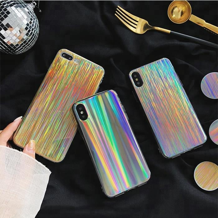 STRIPE GOLD MEÐ POP SOCKET IPHONE 6. 6S. 6 PLUS. 6S PLUS. 7. 7 PLUS. 8. X