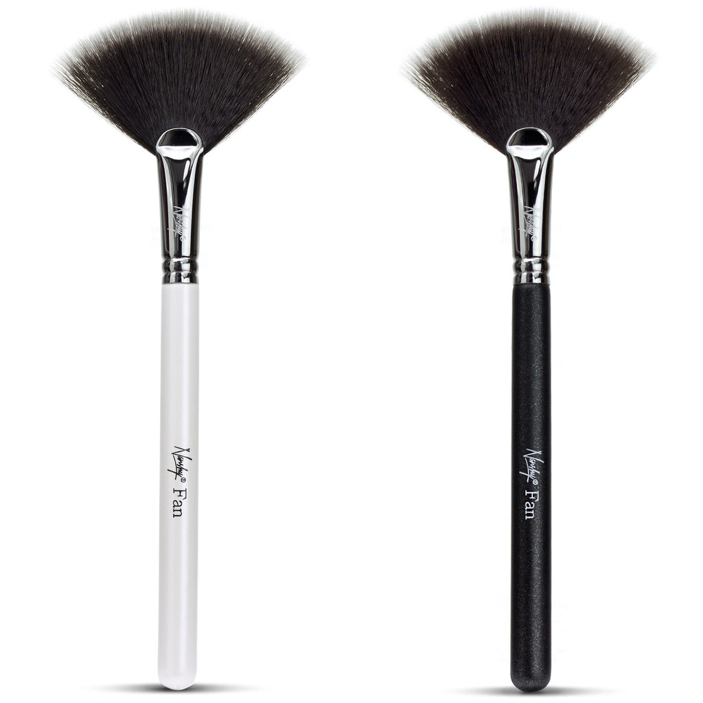 Fan Makeup Brush (Svartur og Hvítur) - Daría