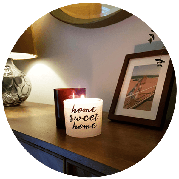 Home Sweet Home Wrapped Candle - Daría