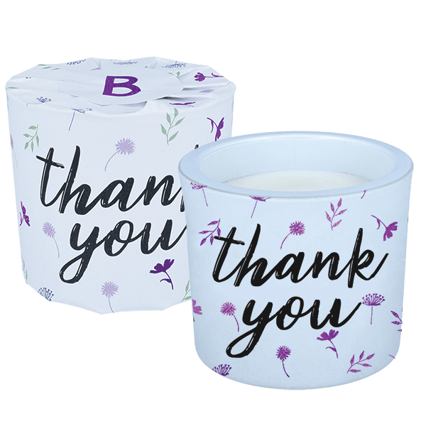 Thank You Wrapped Candle - Daría