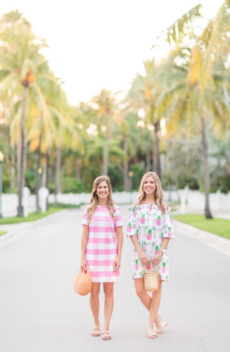 Palm Beach Lately: Pink Gingham & Pineapples