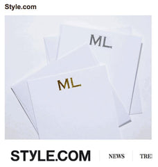 Style.com - Minnie & Emma Stamped Foil Stationery