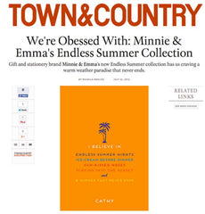 Town & Country Magazine - Minnie & Emma Endless Summer Collection