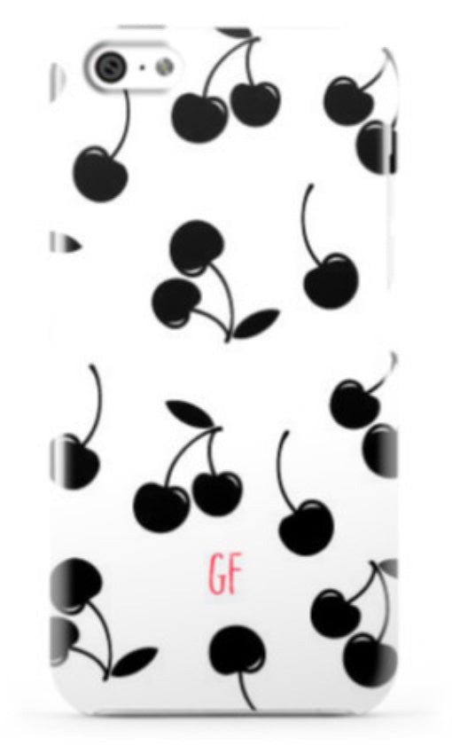 Black White Cherry Phone Case