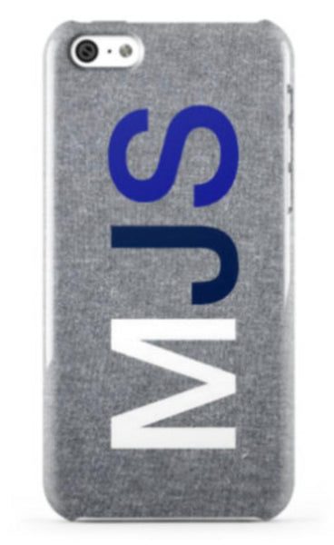 Heather Matt Grey Large Initials Phone Case