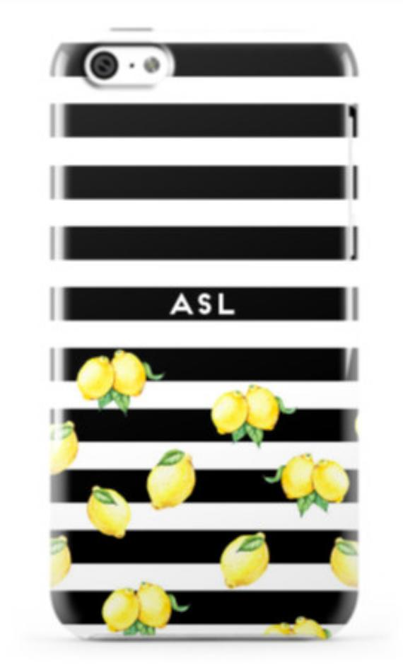Striped Lemon Phone Case