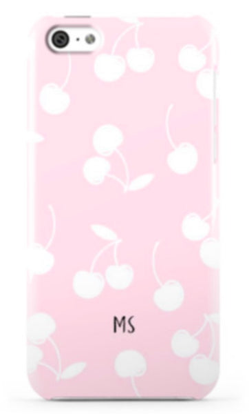 Pale Pink Cherry Phone Case