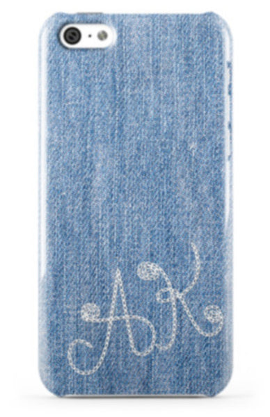 Denim Monogram Phone Case