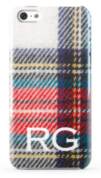 White Tartan Plaid Phone Case