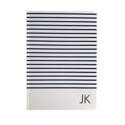 Hand Foiled Striped Soft Covered Notebook