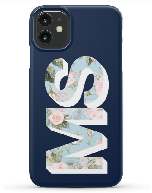Large Floral Initial Phone case ( 2 color ways )