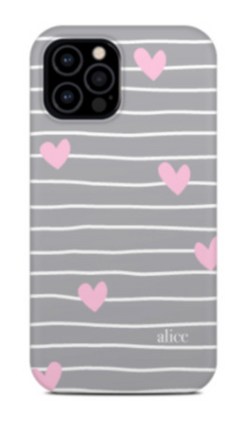 love stripe phone case