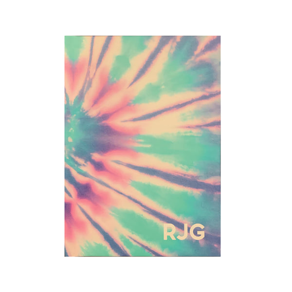 Tie Dye Hard Bound Notebook