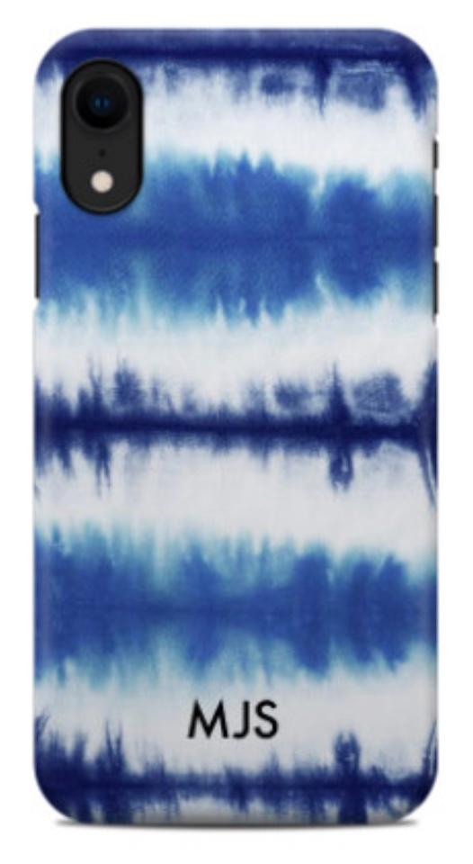 Blue Stripe Tie Dye Phone Case