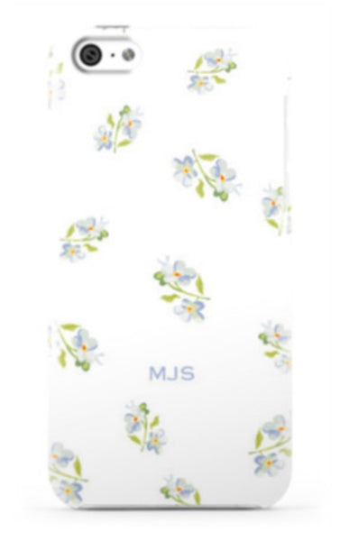 Ditsy Floral White Phone Case