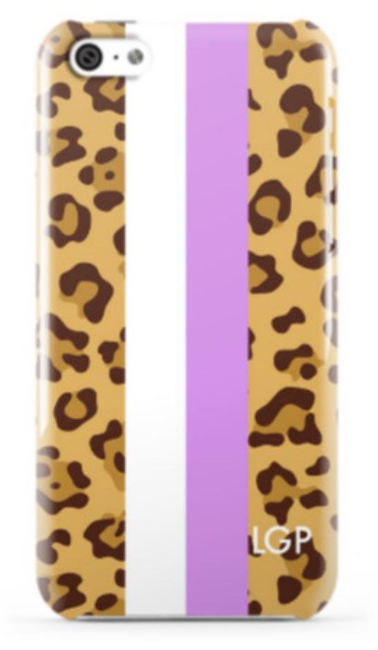 Leopard Print Stripe Phone Case
