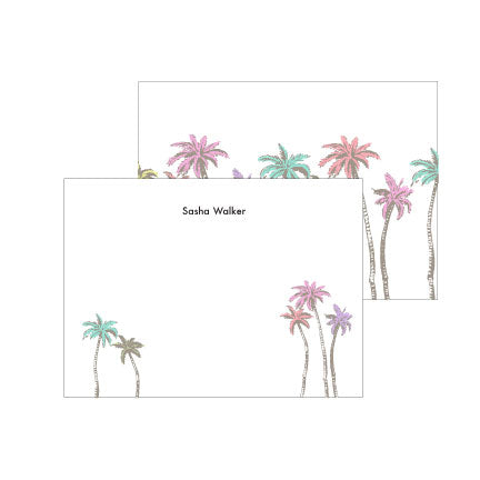 Sunkissed Palms Deluxe Triple Thick Note Cards
