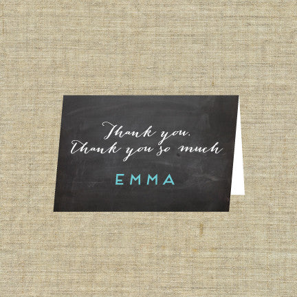Folded Blackboard Thank You Note Cards