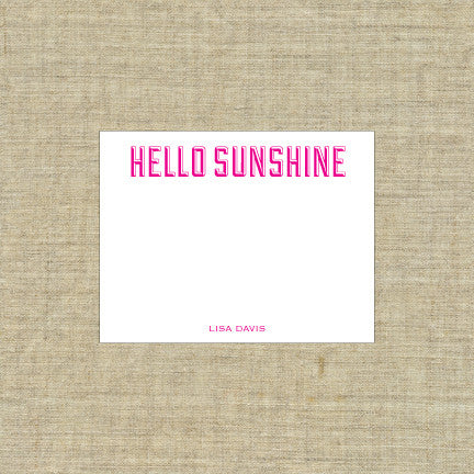 Hello Sunshine Deluxe Triple Thick Note Cards