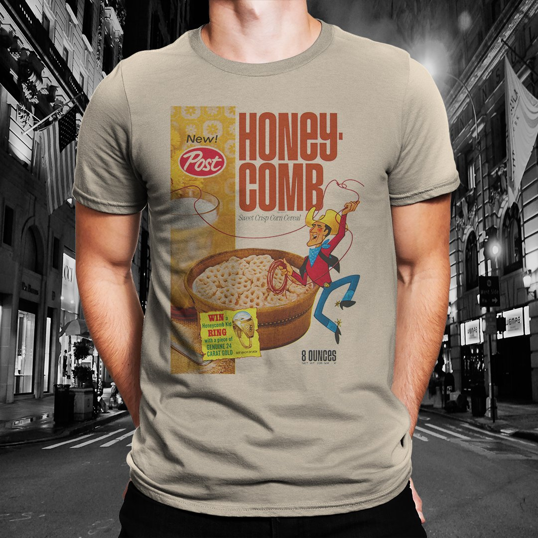 "Honeycomb ""Classic Cereal Box"" Tee"