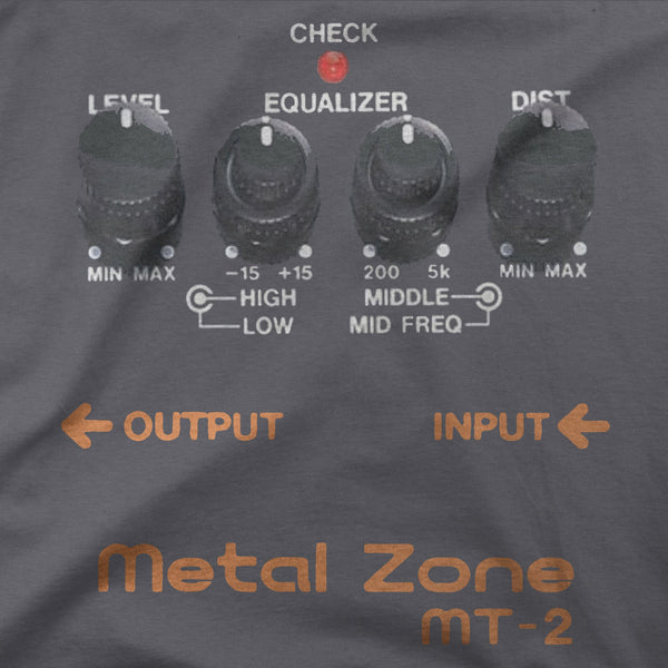 Metal Zone Guitar Pedal Shirt