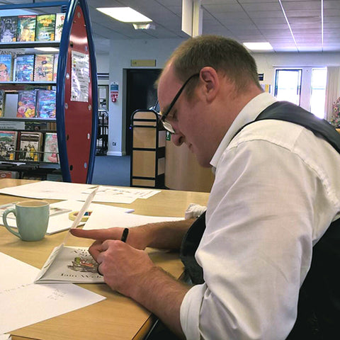 iain welch signing books