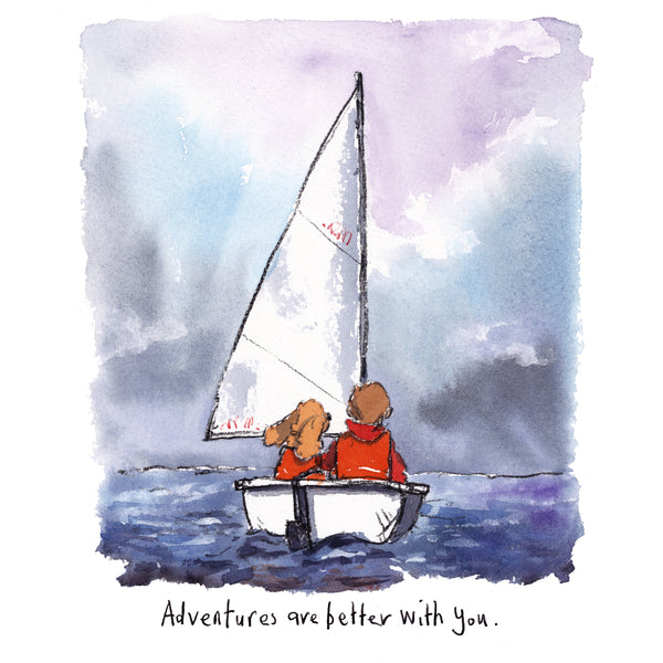 Adventuring with you, 8 x 10 inch giclee print. £35
