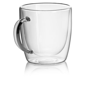 JECOBI© ÉLITE double wall glass mugs | Set of 2, 14oz - JECOBI Home Style