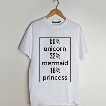 50 Unicorn 32 Mermaid 18 Princess T Shirt