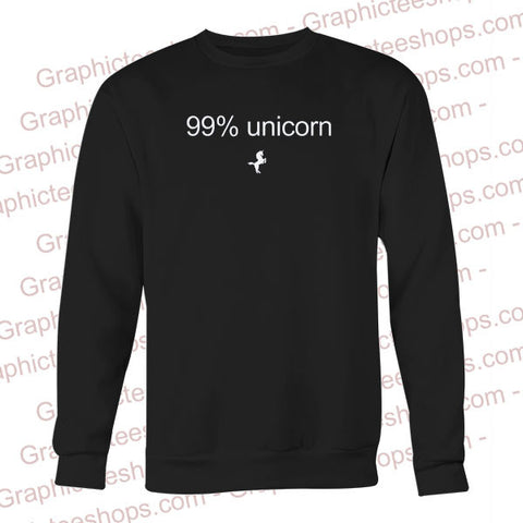 99 % unicorn sweatshirt