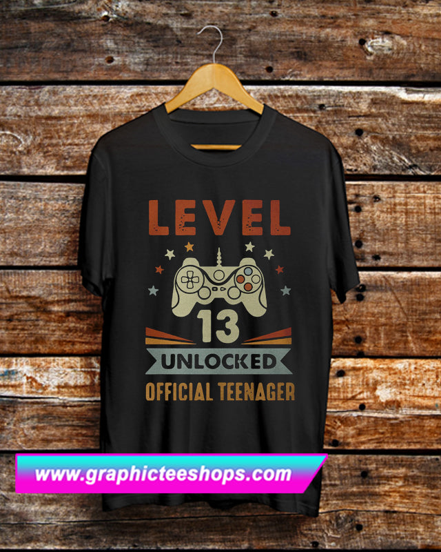 Level 13 Unlocked Official Teenager T Shirt (GPMU)