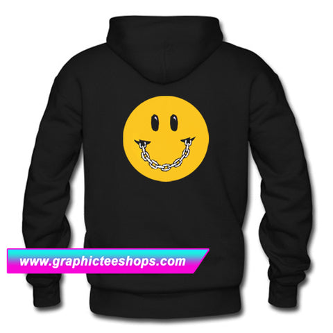 Smile Chain Emoticon Hoodie Back