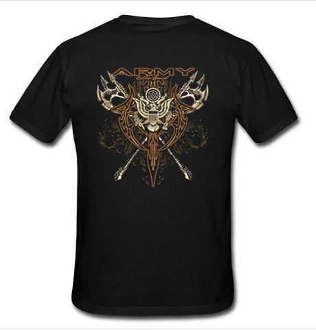 army t shirt back