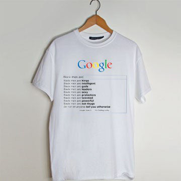 black men are google search T Shirt