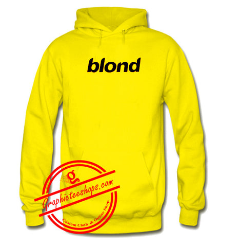 blond font hoodie