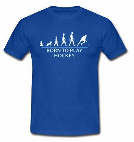 born to play hockey t shirt